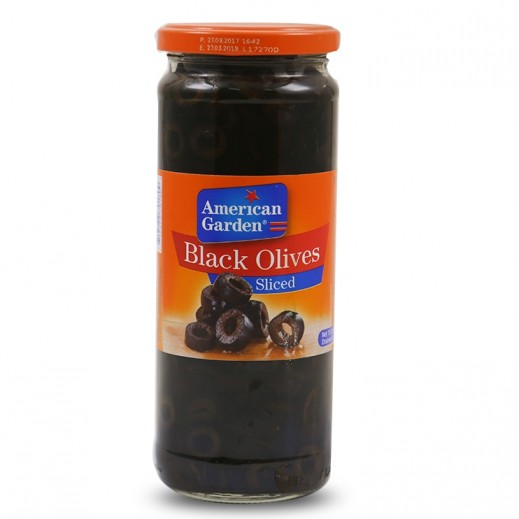 American Garden Sliced Black Olives 450 g