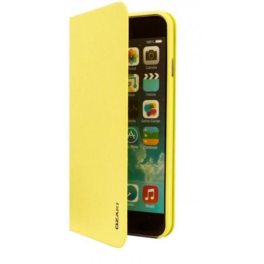 Ozaki o!Coat 0.3 + Folio Ultra Slim & Light Case For Iphone 6 Yellow