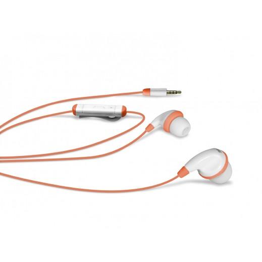 SBS Stereo Jack In-Ear Spot Earset Orange