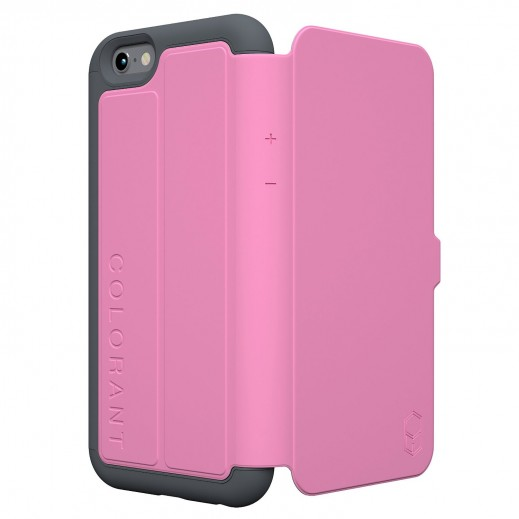 Colorant C3 Folio case For iphone 6 - Pink