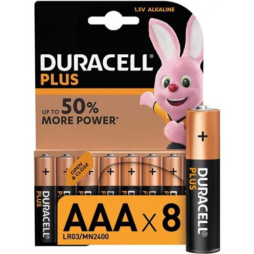 Duracell Alkaline AAA Monet 50% 1.5V Batteries - 8Pcs
