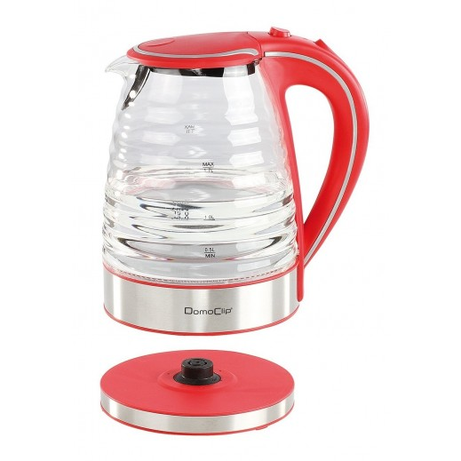 Domo Clip Electric Glass Kettle 1.7 L
