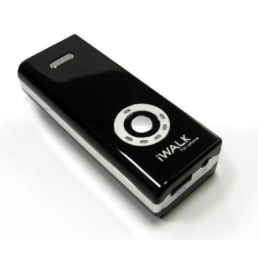 iWalk 5400mAh Rechargeable Backup Battery for iPod/iPhone/iPad - Black