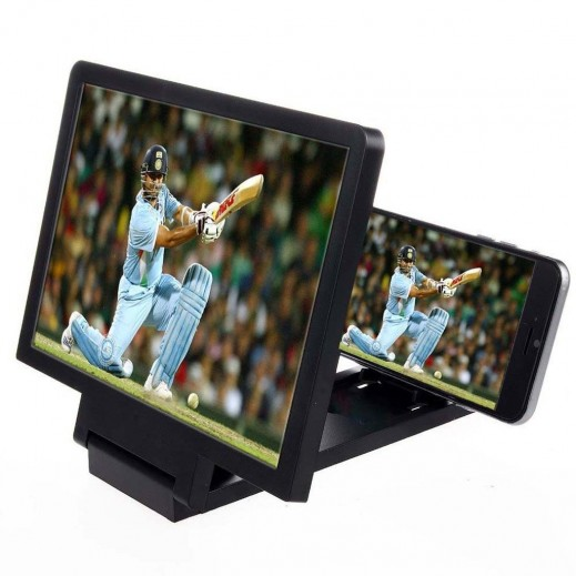 3D Enlarged Screen Mobile Phone Black