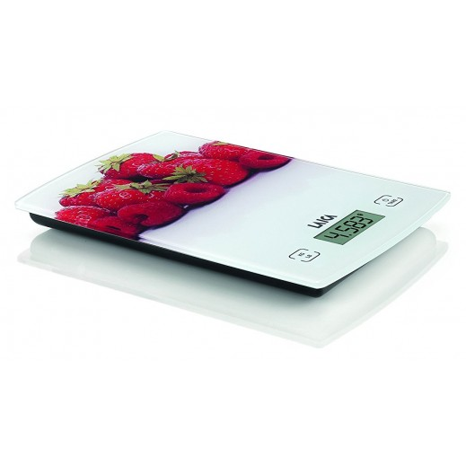 Laica Kitchen Scale Touch Sensor White/Strawberry KS1029W
