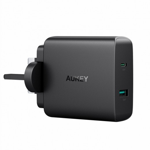 Aukey 2-Port USB Charger– Black