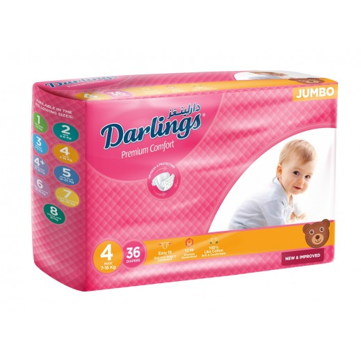 Darlings Maxi Stage 4 (7-16 Kg) 36 Pieces