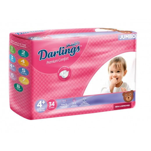 Darlings Super Maxi Stage 4+ (10-20 kg) 34 Pieces
