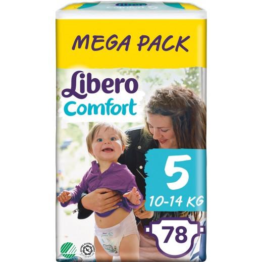 Libero Comfort Fit Diapers Size 5 (10 - 14 kg) Mega Pack 78 Pieces
