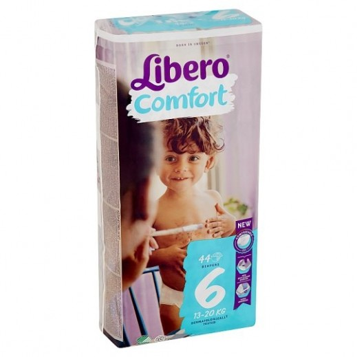 Libero Comfort Fit Diapers Size 6 (13 - 20 kg) 44 Pieces