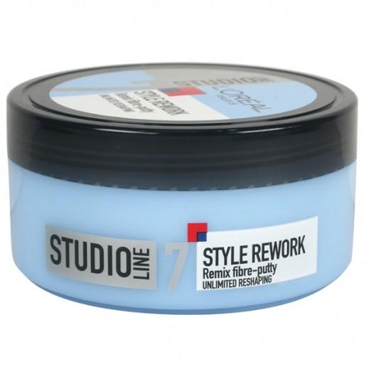 L'Oreal Paris Studio Line Hair Style Rework Remix Fibre Putty 150 ml