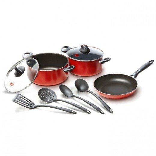 Rubino Non Stick Set - 9 Pieces