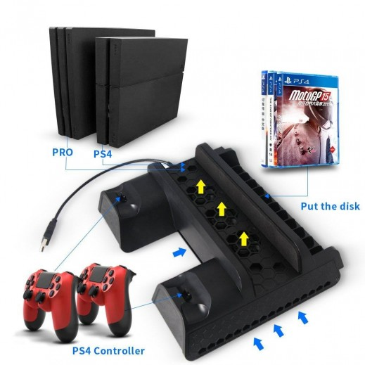 Dobe P4 Series Multifunctional Cooling Stand For PS4 Pro/ PS4 Slim/ PS4