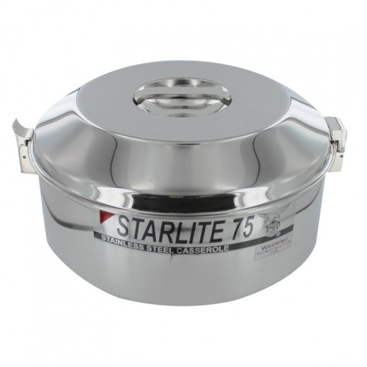 Eagle Starlite Stainless Steel Casserole 7.5 L