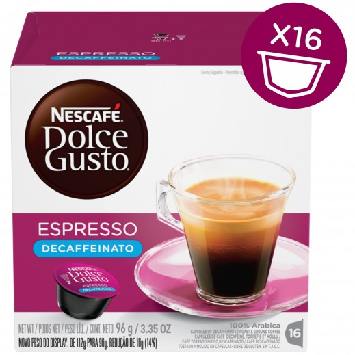 Nescafe Dolce Gusto Espresso Decaf  96 g (16 capsules)