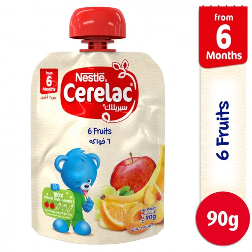 Cerelac 6 Fruits Baby Food 90 g (From 6 Months)