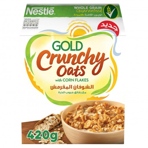 Nestle Gold Crunchy Oats Cornflakes Breakfast Cereal 420 g