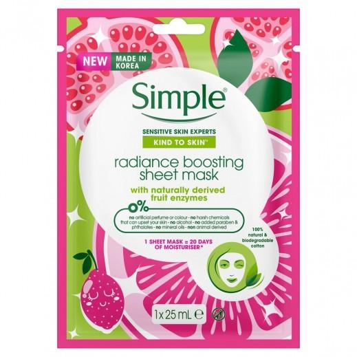 Simple Radiance Boosting Sheet Mask 1 x 25 ml