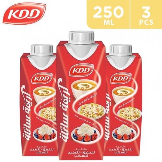 KDD Liquid Whipping Cream 3 x 250 ml
