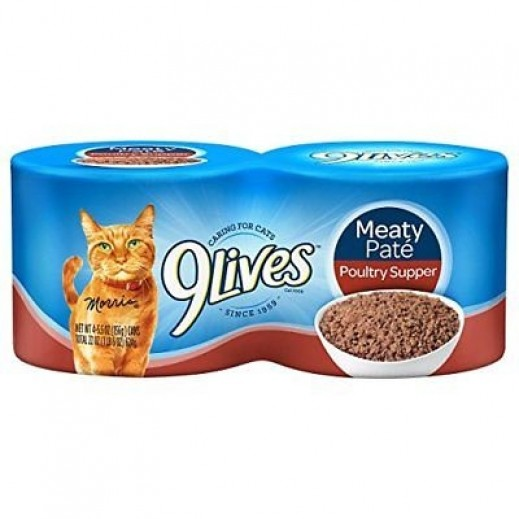 9Lives Meaty Pate Poultry Supper 4x156 g