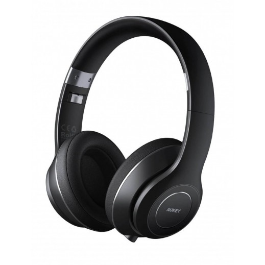 Aukey Bluetooth On-Ear Headphone with Microphone - Black