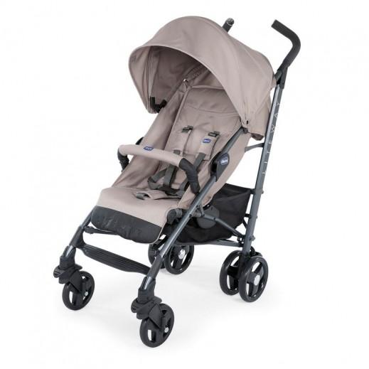 Chicco Lite Way 3 Basic Stroller With Bumper Bar - Dark Beige
