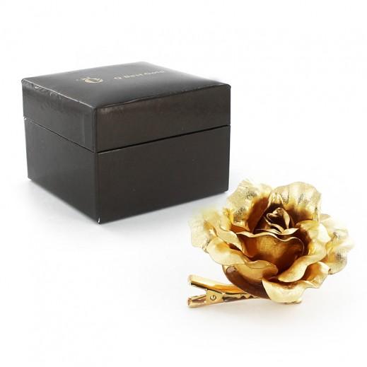 Q Best 24K Gold Foil Small Rose Badge