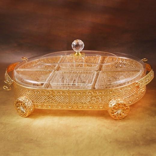 Acrylic Vogue Sweet Box Golden - Large
