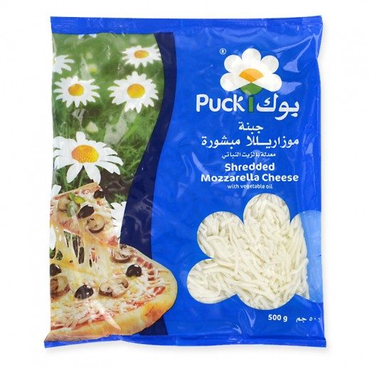 Puck Shredded Mozzarella Cheese 500 g