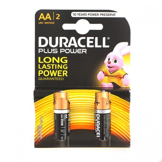 Duracell AA Alkaline Batteries 2 Pack (1.5V)