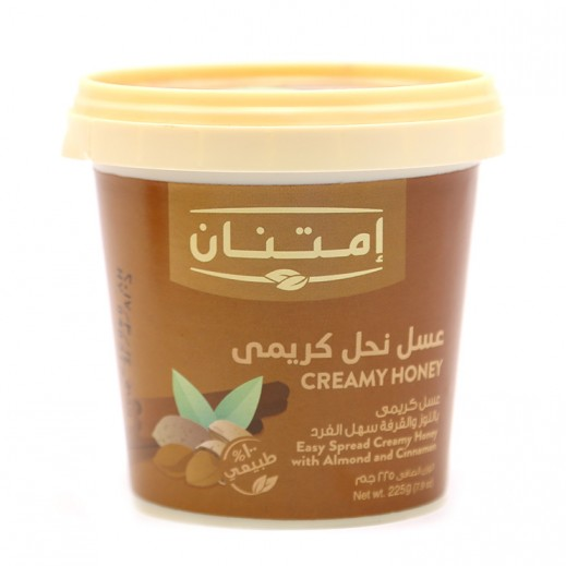 Imtenan Creamy Honey with Almond N Cinnamon 225 g