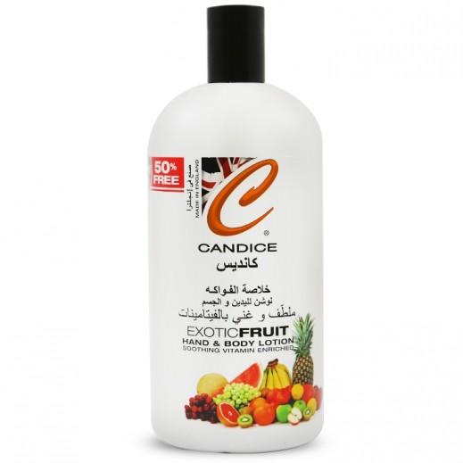 Candice Exotic Fruit Hand & Body Lotion 500ml + 50% Extra Free