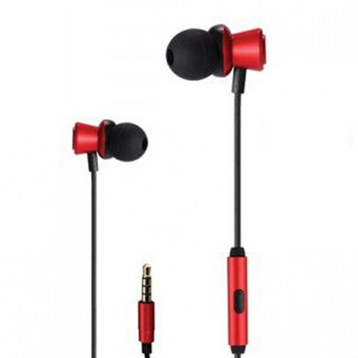 WK Design Wired Earphones 1.2 M – Red