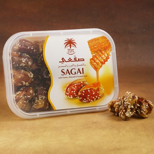 Alwani Siafa Sagai Dates with Almond Honey & Sesame 400 g