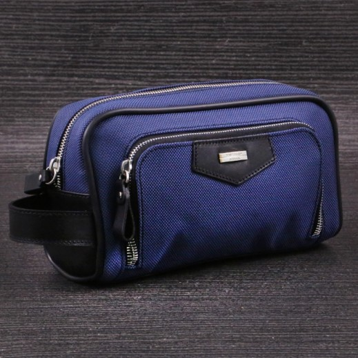 Valentino Orlandi 602 Plain Yacar Blue Jeans Men's Hand Bag - delivered by My Fair Lady Within 2 Working days