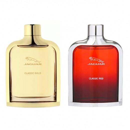 Jaguar Classic Gold For Men  EDT 100 ml + Jaguar Classic Red EDT For Men 100 ml