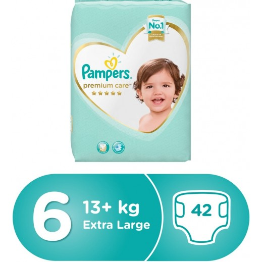 Pampers Premium Care Size 6 Extra Large (13+) 42 Pieces