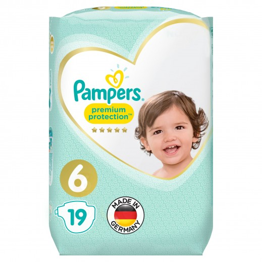 Pampers Premium Care Protection Diapers Size 6 Carry Pack 19 Pieces