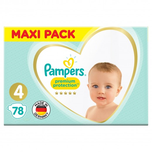 Pampers Premium Care Protection Diapers Size 4 Mega Pack 78 Pieces