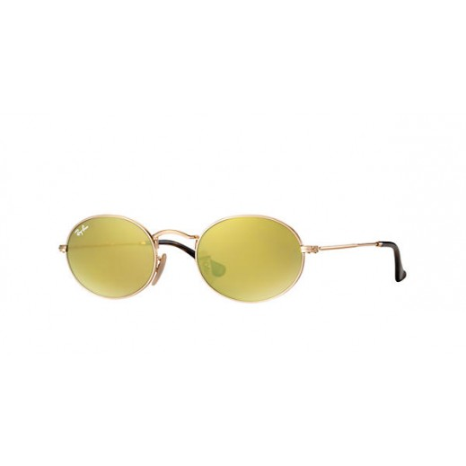 7619af168d Details. Ray-Ban Oval Flat Gold Yellow Flash Unisex Sunglasses RBN 3547N 001  ...