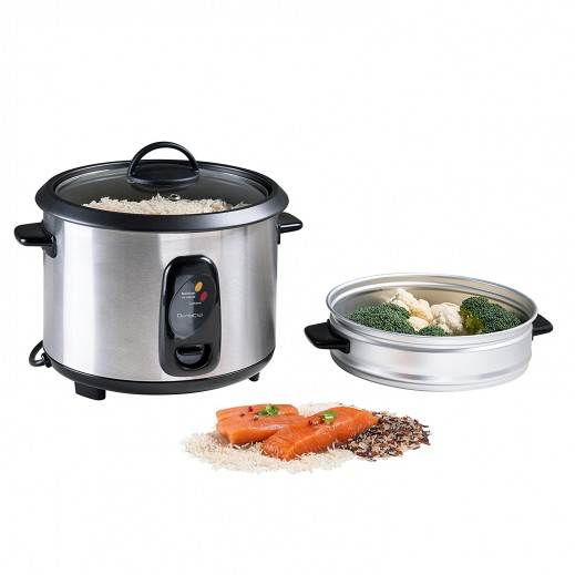 Domo Clip Stainless Steel Rice Cooker 1.8 Ltr 700 W - Silver