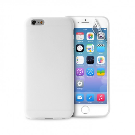 new styles ca235 66609 Puro Ultra Slim Case For Iphone 6 with Screen protector Transparent  IPC64703TR