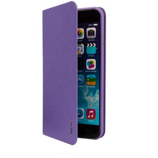 Ozaki o!Coat 0.4 + Folio Ultra Slim & Light Case For Iphone 6 Plus Purple