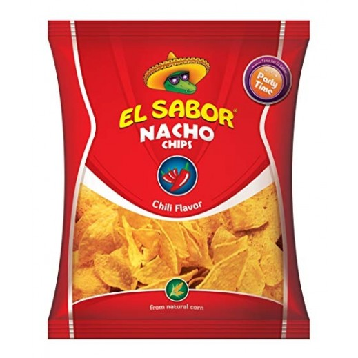 El Sabor Hot Chili Nacho Chips 225 g