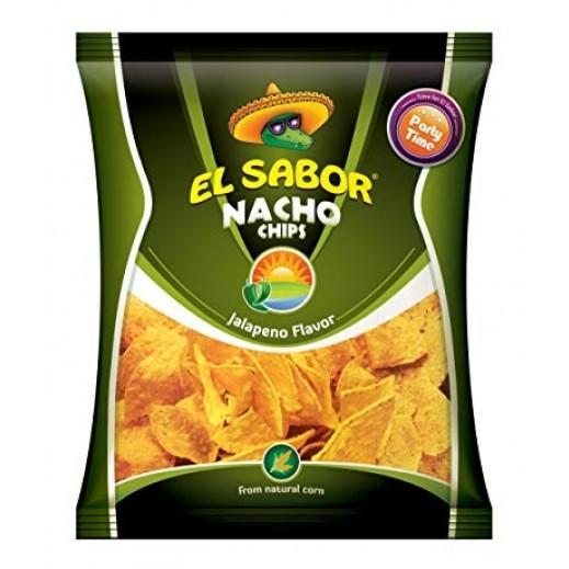 El Sabor Jalapeno Nacho Chips 225 g