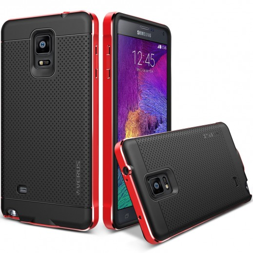 Verus Iron Shield Case For Galaxy Note 4 kiss Red