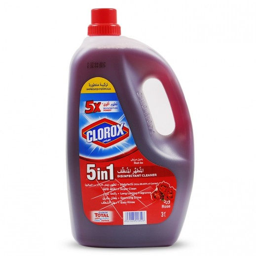 Clorox 5 in 1 Disinfectant Cleaner Rose 3 L