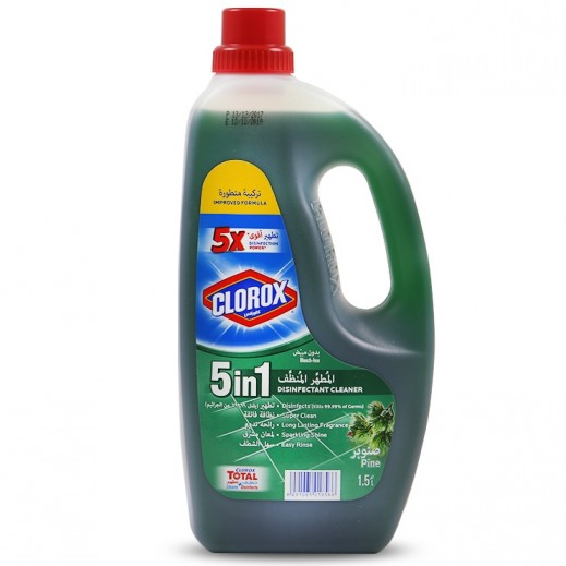 Clorox 5 in 1 Disinfectant Cleaner Pine 1.5 L