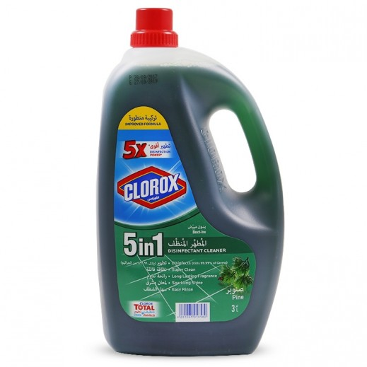 Clorox 5 in 1 Disinfectant Cleaner Pine 3 L
