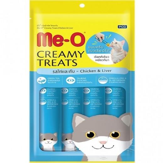 Me-O Creamy Cat Treats Chicken & Liver 4 x 15 g